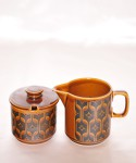 HORNSEA HEIRLOOM / Sugar Pot & Milk Jug SET  (Autu