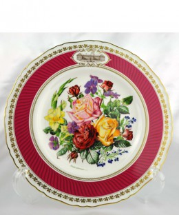 ROYAL WORCESTER / Chelsea Flower Show Plate 1982年