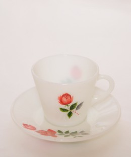 JAJ PYREX June Rose / Cup & Saucer