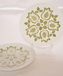 J&G MEAKIN Tulip Time / Cake Plate 2 Pieces SET