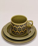 HORNSEA HEIRLOOM / TRIO(Cup, Saucer & Plate) Green