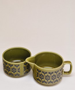 HORNSEA HEIRLOOM / Milk Jug & Sugar Bowl SET Green