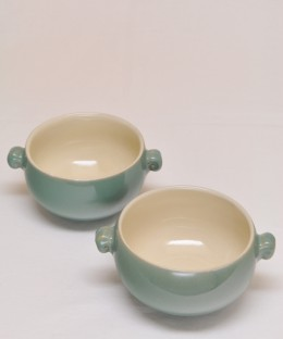 Denby Minor Green / Soup Cup 2 Pices SET