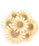 Vintage Costume Jewelry Brooch / Flower Design
