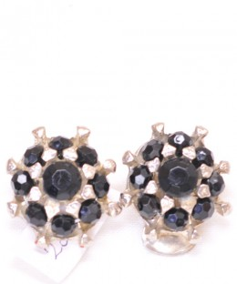 Earrings / Black Stone